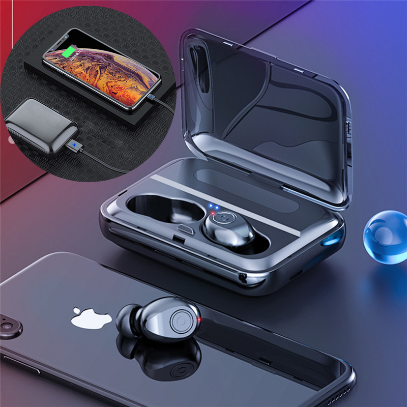 Bluetooth 5.0 Earphones TWS Wireless Headphones Stereo Earphone Ear Buds With Charging Box For Samsung Galaxy Buds S8/7 IPhone