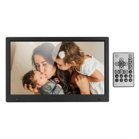 15.6 Inch Widescreen Digital Photo Frame HD 16:9 IPS Display Screen Support Infrared Induction MP3 +Remote Control Stand Bracket