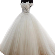 Ball-Gown Quinceanera-Dresses Tulle 15-Anos Sweet 16 Debutante BM350 Beads Vestidos Via