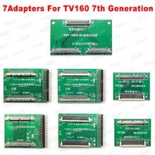 Herramientas de reparación de chips 2019 TV160 6ª generación + 43 en 1 pantalla Full HD LVDS Turn VGA LED/LCD, comprobador de placa base, convertidor de herramientas