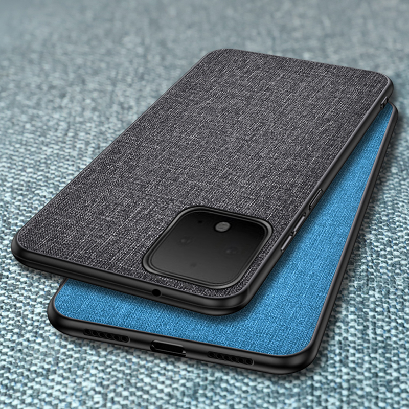 for Google Pixel 4 XL 3A XL Fabric <font><b>Case</b></font> for <font><b>Nokia</b></font> 7 Plus 7.1 <font><b>8.1</b></font> 9 X7 Soft <font><b>Silicone</b></font> Cloth Cover <font><b>Cases</b></font> image