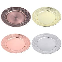 2 sztuk ze stali nierdzewnej okrągłe płytki talerz danie sałatka owoce pojemnik na jedzenie taca