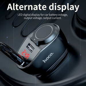 Image 4 - 高速オンチップ · オシレータデュアル USB 車の充電器 + シガーライタースロット Led ディスプレイ 96 ワット 3.1A 急速充電車の充電器アダプタ iphone 11 プロ