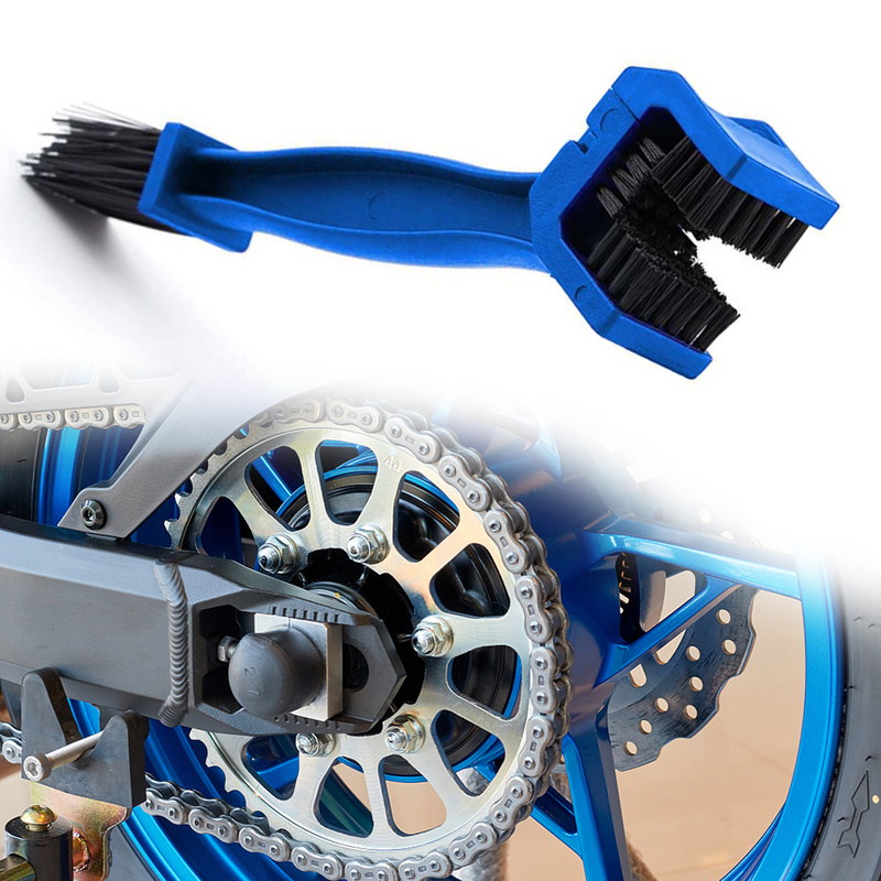 1pc Motorcycle Bicycle Chain Cleaning Brush Gear Grunge Brush Outdoor Dirt Cleaner Scrubber Tool Universal Car Wash Accessories