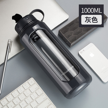 Large Capacity Thermos Bottle Mug Glass Flask 1000 Ml Double Wall Vacuum Simple Modern Genuine Thermos Water Bottle KK60BW