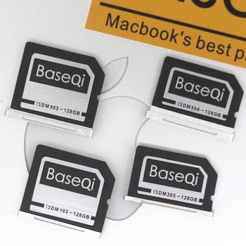 BaseQi Aluminum Stealth drive 128GB High Speed Memory Card SD Card For MacBook Air 13-inch and MacBook Pro Retina 13/15-inch аксессуар сумка 13 inch thule subterra attache для macbook air pro retina 13 3203424