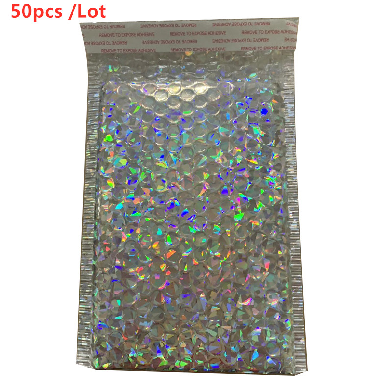 50/30/10/5pcs /Lot Laser  Paper Bubble Padded Mailers Envelopes Gift Bag Bubble Mailing Envelope Bag Packaging Shipping Bags