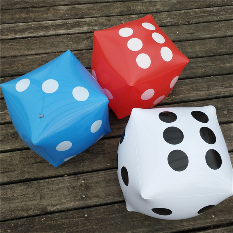 3 Colors Inflatable Air Number Dice 30*30cm Funny Party Supplies Toys For Children Kids Adults Outdoor Game Play Cube Gifts