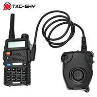 רדיו ווקי TAC-SKY PTT PELTOR הטקטי PTT peltor PTT K אוזניות טקטי תקע מתאם רדיו רובה אוויר אוזניות צבאיות-טוקי ווקי טוקי (2)