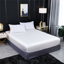 Folha cabida 100% natural de seda amoreira elástico folha de cama de luxo cor sólida dupla rainha tamanho capa de colchão de seda real