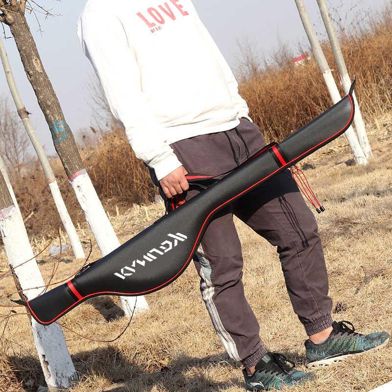 125 センチメートル折りたたみ収納釣りバッグ EVA 防水釣竿バッグ釣具アクセサリー大容量 B345