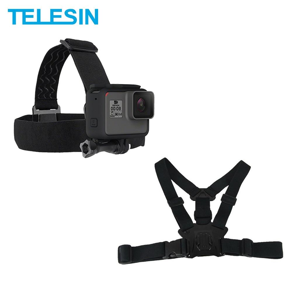 TELESIN Chest Belt Head Strap Mount For GoPro Hero 7 6 Hero 5 4 3 2 For Xiaomi Yi 4K Mijia 4K SJCAM For EKEN Accessories