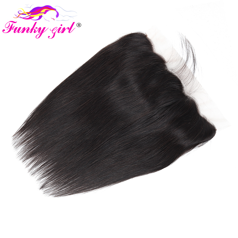 H54d8a2c836a44150a0323928f76a2bfaw Funky Girl Malaysia Straight Ear To Ear Lace Frontal Closure With Bundles Human Hair Weave Non Remy Hair Extension 3/4 Bundles
