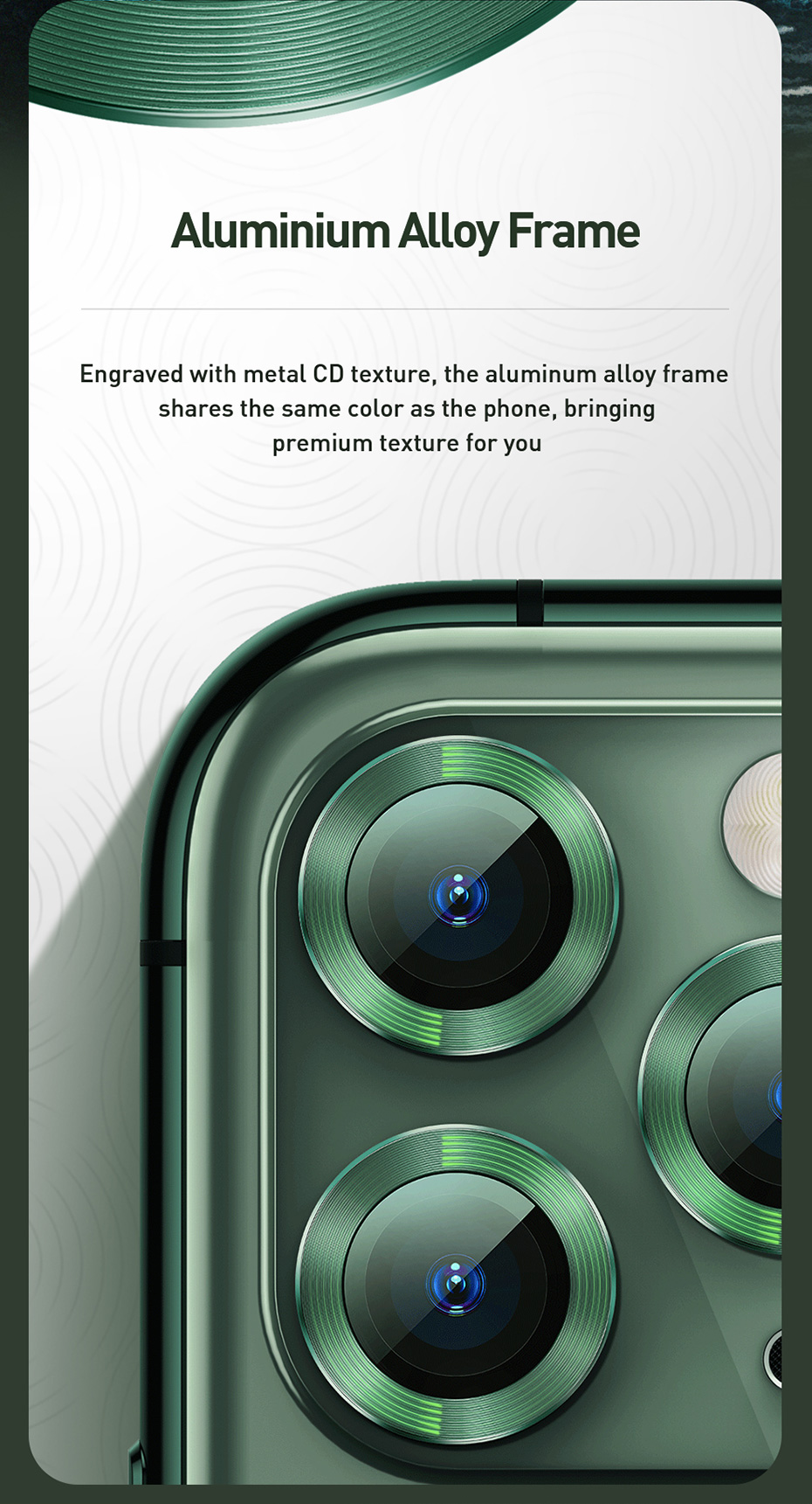 Baseus Back Camera Lens Screen Protector For iPhone 11 Pro Max Camera Protector for iPhone 11 Pro Tempered Glass Protection Case