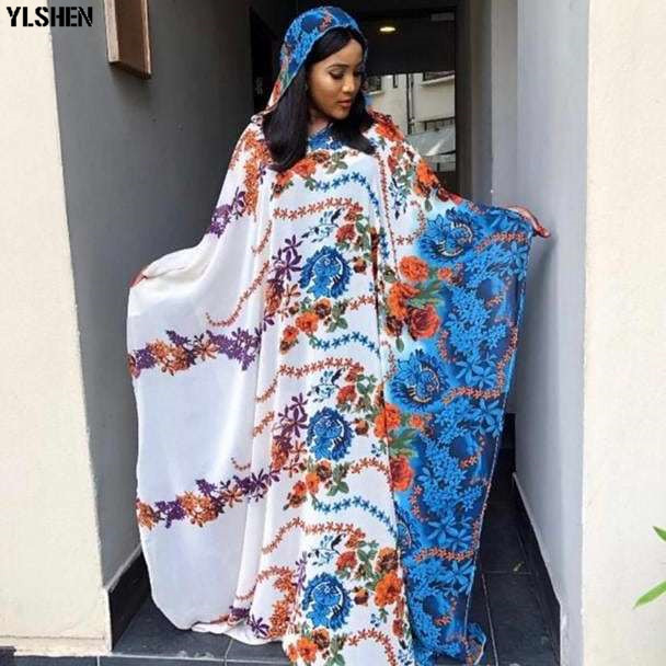 African Dresses For Women 2019 New African Clothes Dashiki Hooded Ankara Dresses Bazin White Print Traditional Two Piece Set African Long Dress Wear For Lady Hight Quality Fashion Basin Riche Robe Africaine Femme 2019
