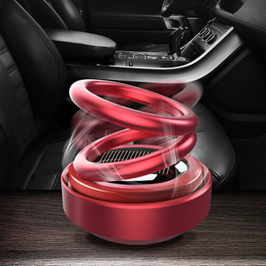 Solar Energy Car Double Loop Rotary Suspension Dashboard Perfume Seat Air Freshener Auto Aromatherapy Diffuser Interior Decor(China)