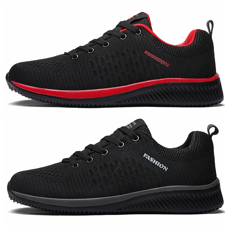 Shoes for Men Summer Mesh Men Sneakers Lace Up Low Top Hollow Footwear Breathable Sale Sport Trainers Zapatillas Hombre 1