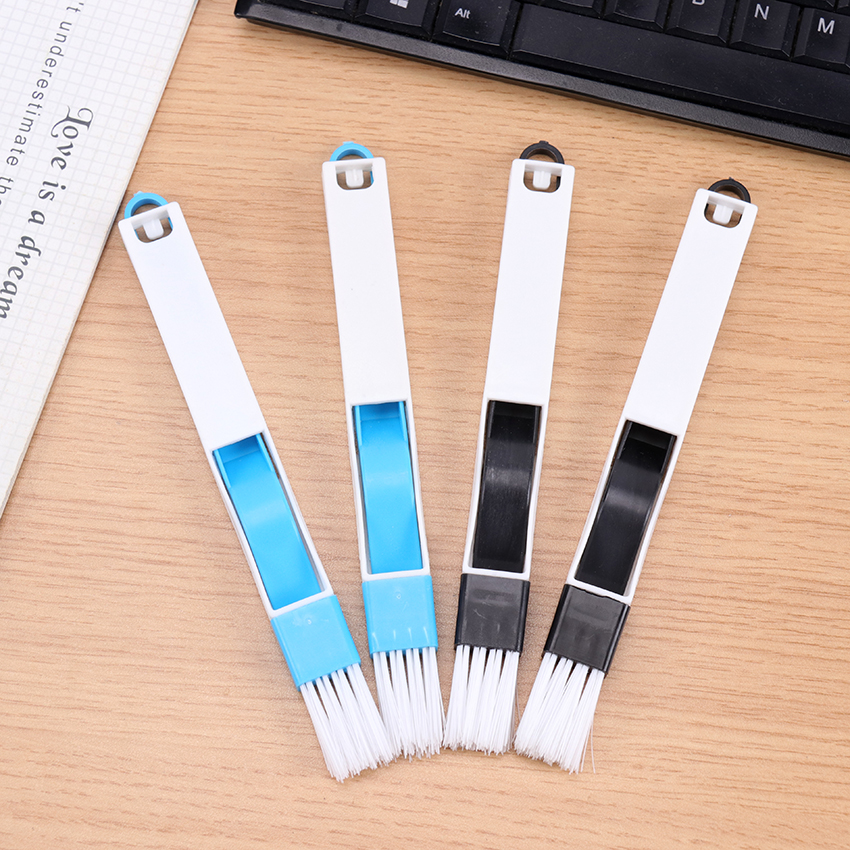 1PC Useful Mini Computer Keyboard Cleaner+Dustpan 2 In 1 Brush School Office Desk Set Dust Cleaning Kit Cleaning Tool