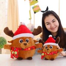 Санта-Клаус, электрическая игрушка, забавная многофункциональная кукла Санта, светильник, музыкальный лось, плюшевая игрушка, Лидер продаж