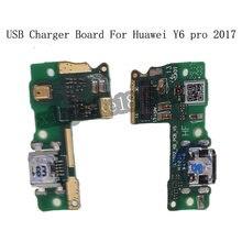 Usb разъем зарядное устройство плата для huawei y6 pro 2017
