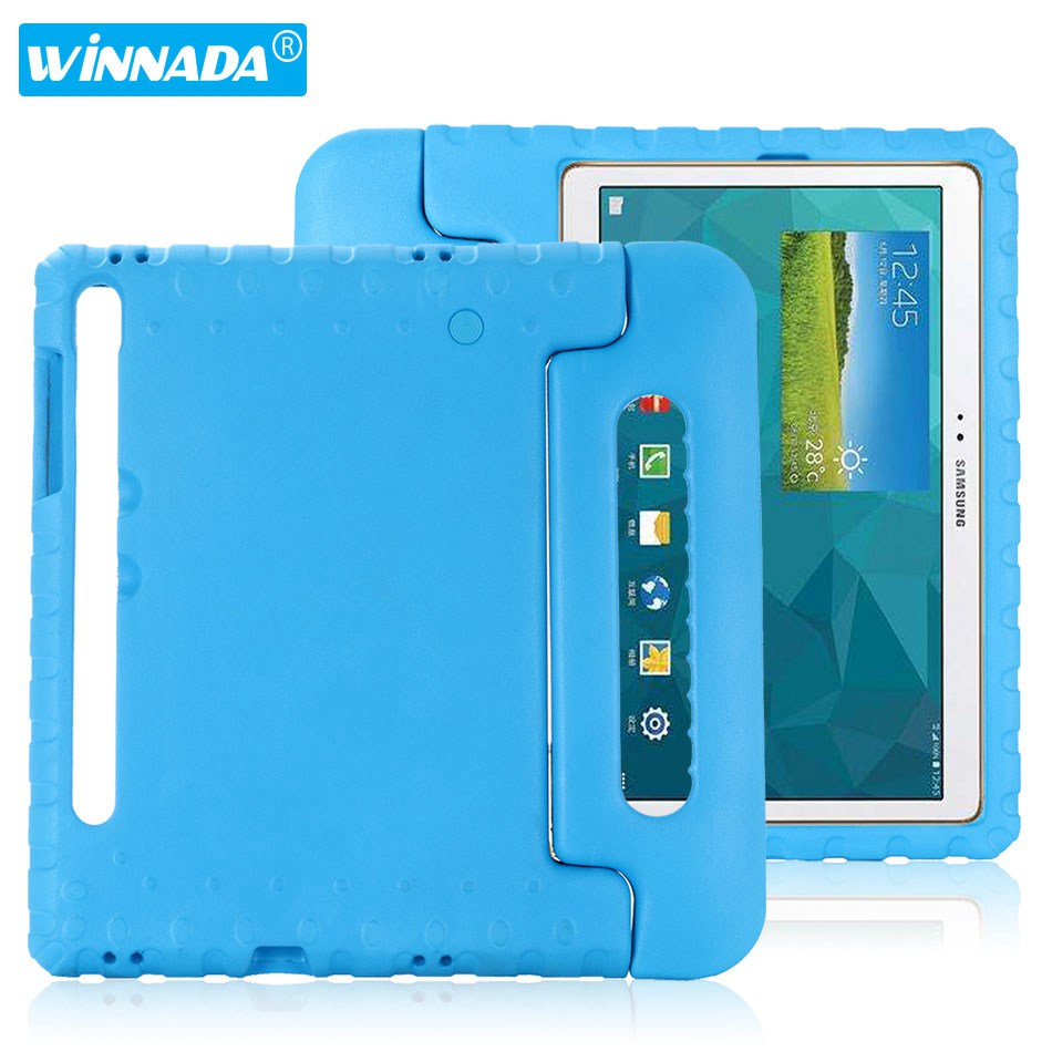 Case for samsung galaxy tab S6 SM-T860 SM-T865 10.5 inch hand-held Shock Proof EVA full body cover Handle stand case for kids image