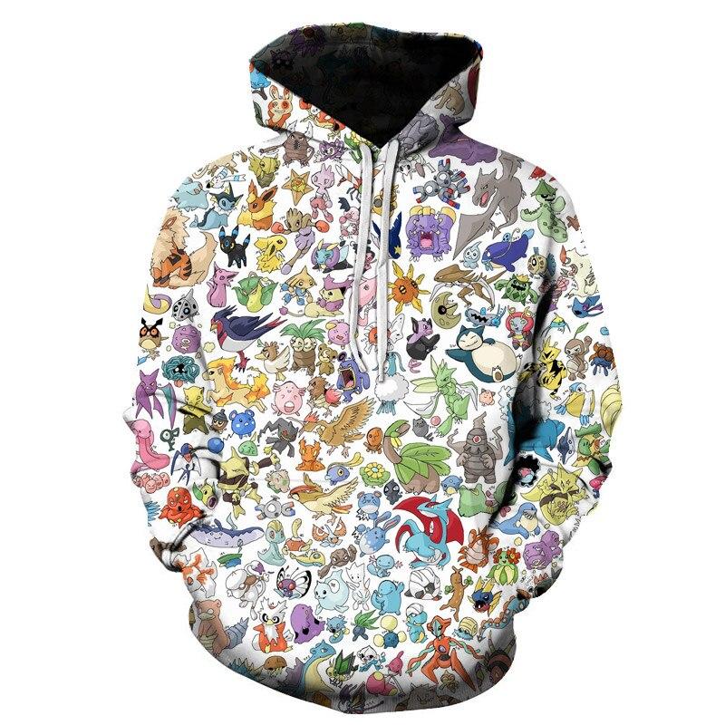 Pikachu Pokemon Go 3D Graphic Sweatshirt Hoodies Men Women Umbreon Sweatshirts Hoodie Men Pullover Boys Game Jacket Clothes