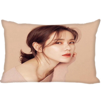 Custom Son Ye Jin Pillowcase Zipper Polyester Cotton Pillow Cover Size 35X45cm (One Sides) image