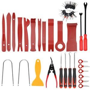 Image 3 - Kit de mantenimiento de embellecedor para automóvil, extractor de panel de reparación de molduras automático, barra de palanca, tablero de radio de coche, herramienta de mano para moldura de puerta, el mejor de 2020