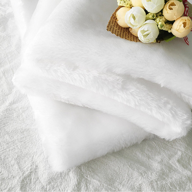 White Haired Blanket Short plush Cloth for Clothes Toiletries Childrens Toys Photography Shooting Background Backdrops Props