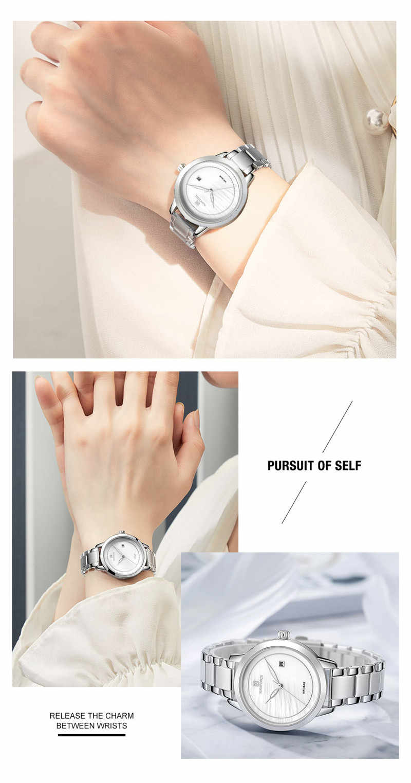 NAVIFORCEนาฬิกาแบรนด์หรูRose Goldผู้หญิงนาฬิกาข้อมือสแตนเลสสร้อยข้อมือแฟชั่นคลาสสิกหญิงนาฬิกา5008