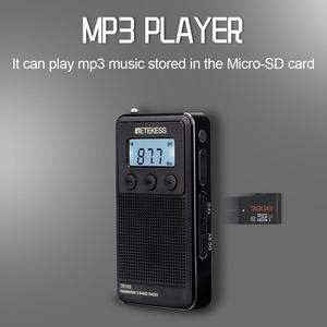 Image 3 - Retekess TR103 Pocket Portable Mini Radio FM / MW / SW Digital Tuning Radio 9/10Khz MP3 Music Player with Rechargeable Battery