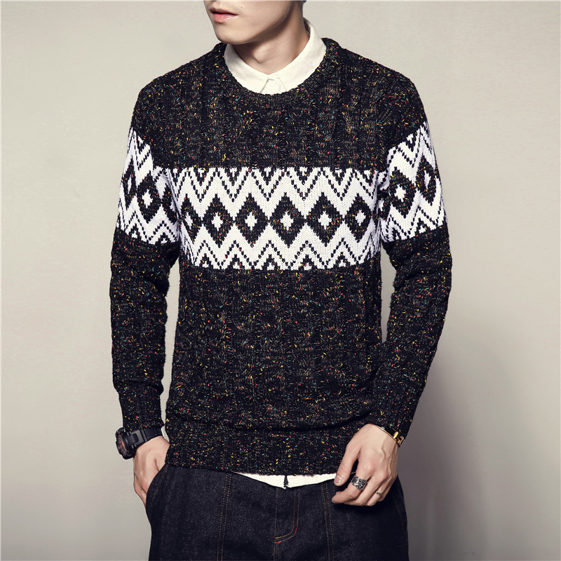 Sweater Male Fashion Vintage New Style Mens Sweaters And Pullovers Casual Autumn Sweater M-5XL Pullover Knitted Striped