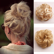 Fluffy Chignon Hairpiece Tousled Messy Bun Hair Elastic Band Scrunchie Updo Cover Synthetic Natural Fake Hairpiece for Women