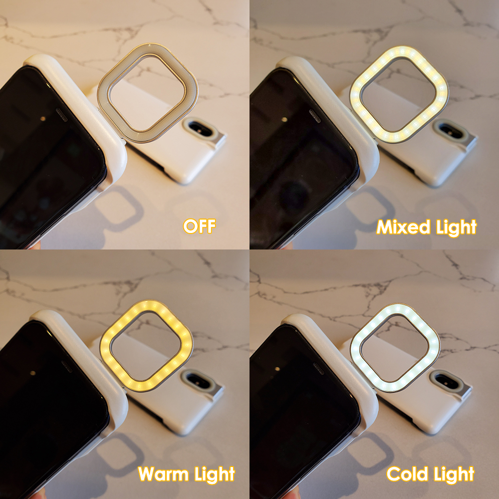 Akcoo for iPhone 11 Ring Light Cases with Flash Led Fill light for Shot Fashion Case