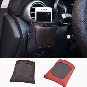 Держатель для телефона из искусственной кожи для автомобиля Geely Emgrand ICON X7 Coolray Атлас Син Yue
