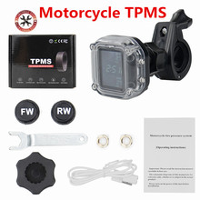 Sistema de control de temperatura de neumáticos para motocicleta TPMS, 2 uds., Sensor de 5V, 6,2 Bar, alarma USB activa, pantalla de tiempo de seguridad