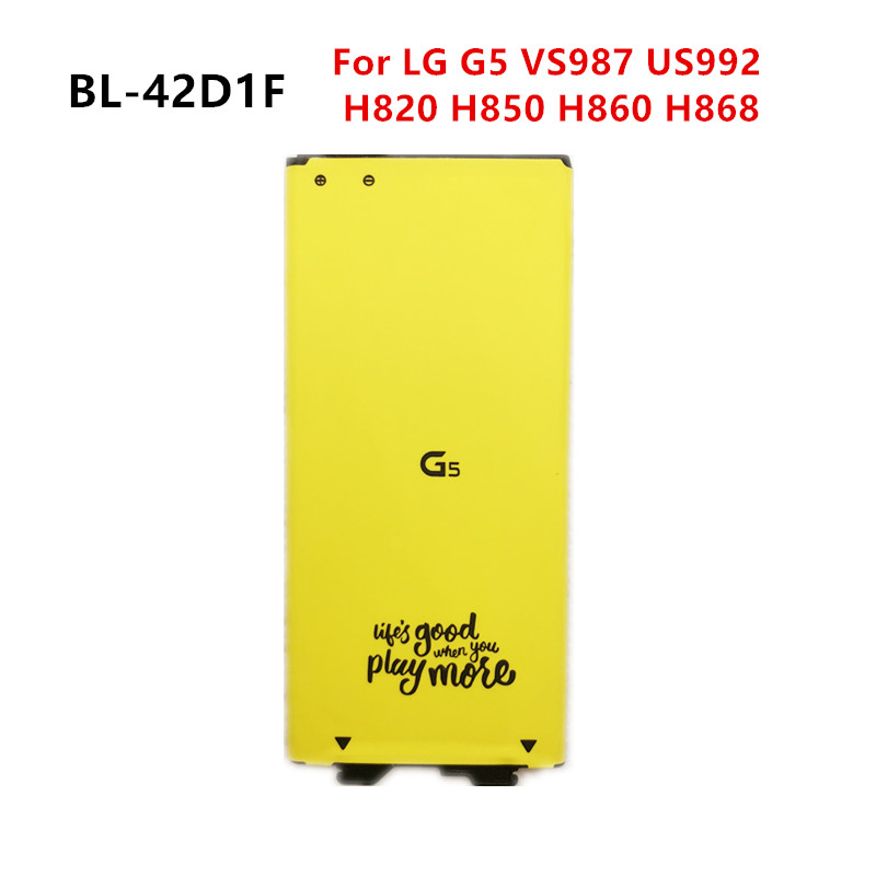 New 2800mAh BL-42D1F Replacement Battery For LG G5 VS987 US992 H820 H830 H840 H850 H860 H868 LS992 F700  BL42D1F  Batteries
