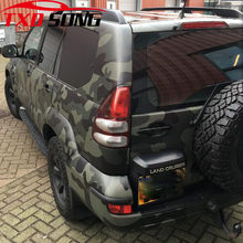 Dark green black grey Camouflage Vinyl Car Wrap Foil With Air Release Bubble Free Film DIY Styling Sticker Car Body Wrapping(China)