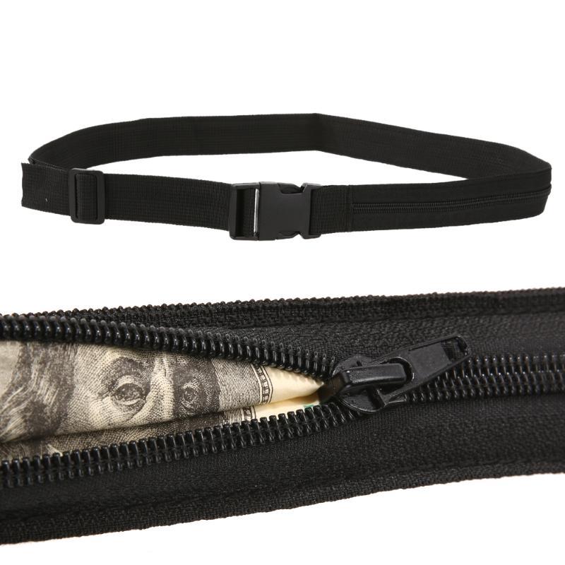 Secret Security Zip Pocket Protect Hidden Travel Waist Money Belt Wallet Outdoor Sport Camping Climbing Practical Accessory