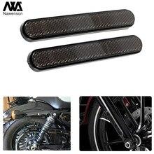 Reflectores laterales para motocicleta, para horquilla delantera y trasera, para Sportster 1200, personalizado, XL1200C, Iron 883, XL883N
