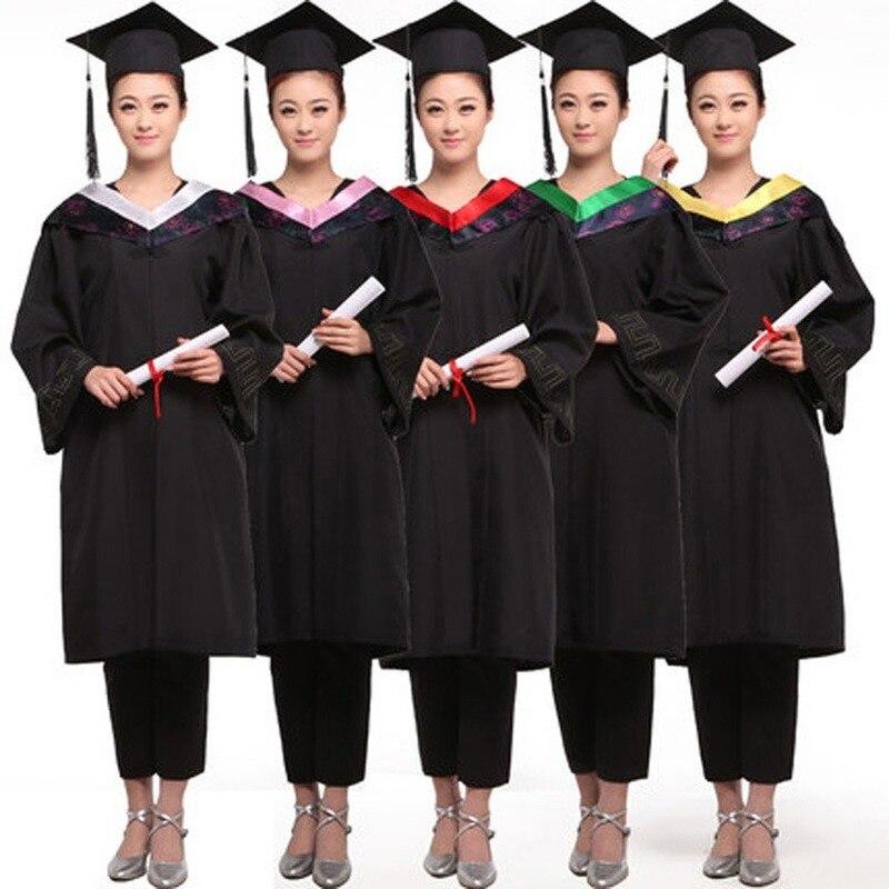 Unisex Doctoral Uniform Graduation Ceremony Master's Hat Bachelor's Suit Graduation Costume School Uniforms