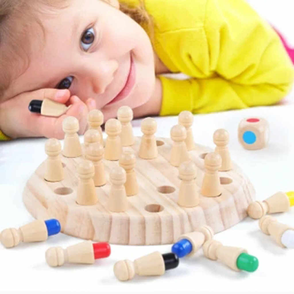 Pädagogisches SPIELZEUG Kinder party spiel Holz Speicher Spiel Stick Schach Spiel Spaß Block Bord Spiel Farbe Kognitive Fähigkeit Spielzeug & geschenk