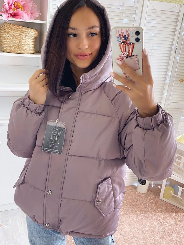 Coat Padded-Jackets Outwear Parkas Hooded Styled Female Warm Thicken Colorful Winter Women