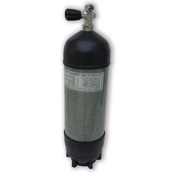 Acecare 9LCE 300Bar Gas Cylinder High Pressure Air Bottle With Rubber Valve Pcp Diving Tank Airforce Condor Underwate Rifle 2019 2018 new hot sale airforce condor pcp 6 8l 300bar aluminum alloy liner carbon fiber pneumatic cylinder with high pressure v