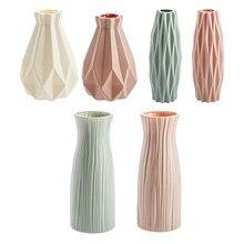Jarrones modernos decoración del hogar Estilo nórdico Arreglo floral de cerámica Sala de estar Maceta de origami para interior Plástico Venta caliente