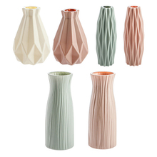 Vases-Decoration Flower-Pot Origami Plastic Interior Living-Room Nordic-Style Modern