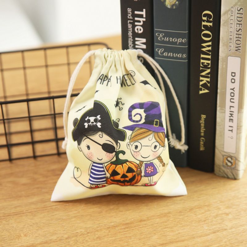 Cute Witches Candy Bag 6 Different Style Funny Halloween Gift Bags Holiday Supplies Creative Trick or Treat Bag Goodie Storage