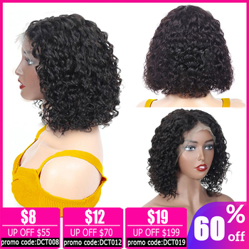13x4 lace front wig pixie cut water wave wig short bob lace front wig Brazilian lace front human hair wigs for women non-remy 13x4 lace front wig pixie cut water wave wig short bob lace front wig brazilian lace front human hair wigs for women non remy