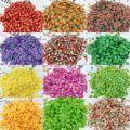 1000 шт 20 цветов фруктовые Ломтики для ногтей, 3D фрукты конфетти ананас/клубника/грейпфрут Яблоко наклейки для ногтей ломтики, H543
