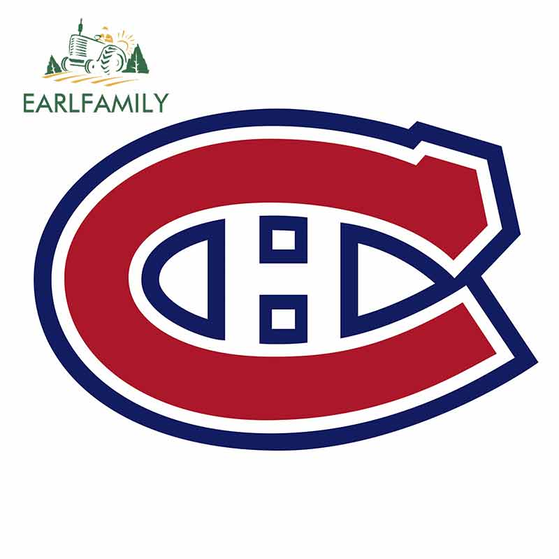 EARLFAMILY 13cm X 9cm For Montreal Canadiens Car Stickers And Decals Laptop Car Whole Body Car Assessoires Decor